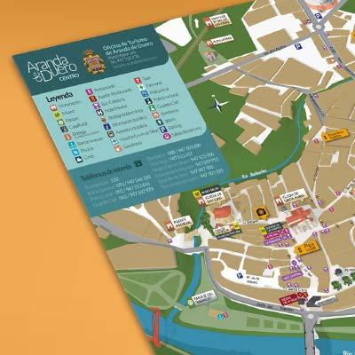Plano turístico de Aranda de Duero