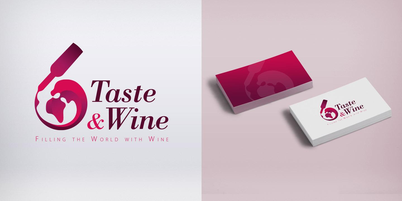 Diseño del logo TASTE & WINE