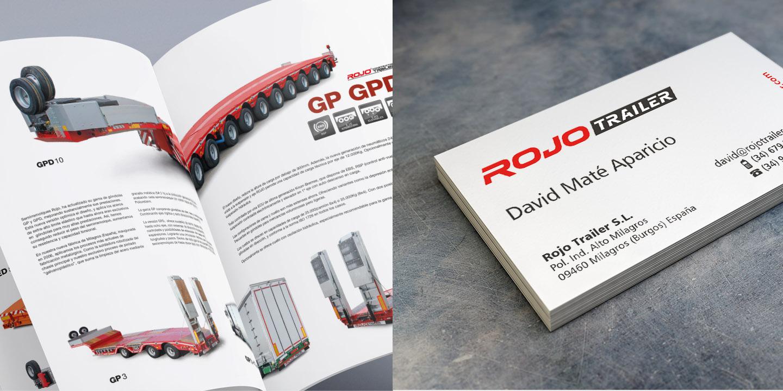 Catálogo y tarjetas Rojo Trailer