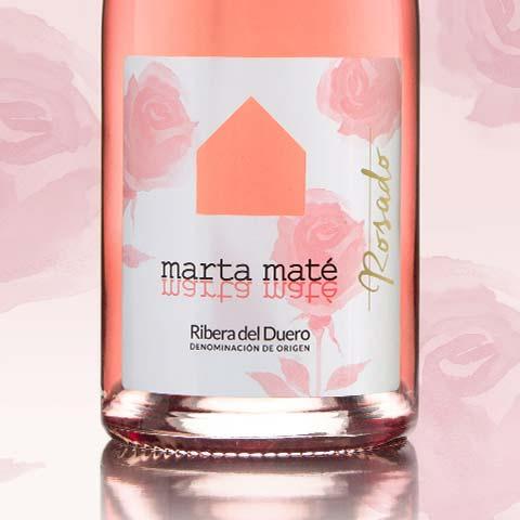 Diseño de etiquetas de vino Marta Maté Rosado