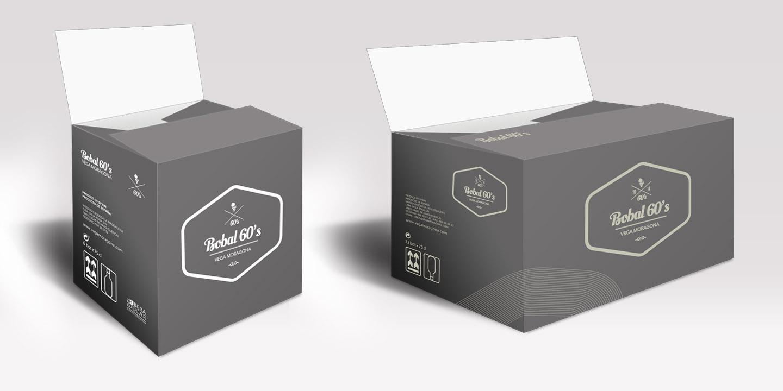 Diseño de packaging Bobal 60s