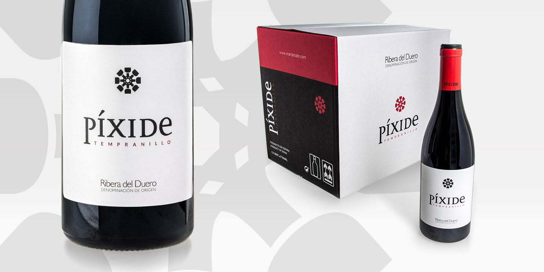 Diseño de etiquetas de vino Píxide
