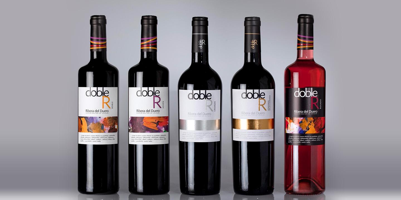 Diseño de etiquetas de vino DOBLE R