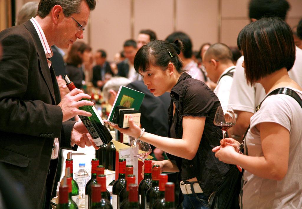 Feria de vino en Asia