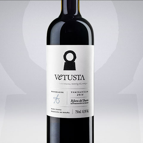 Diseño de etiqueta de vino, Vetusta crianza