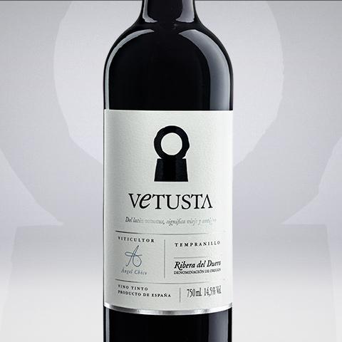 etiqueta de Vetusta