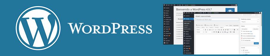 Cabecera del CMS WordPress