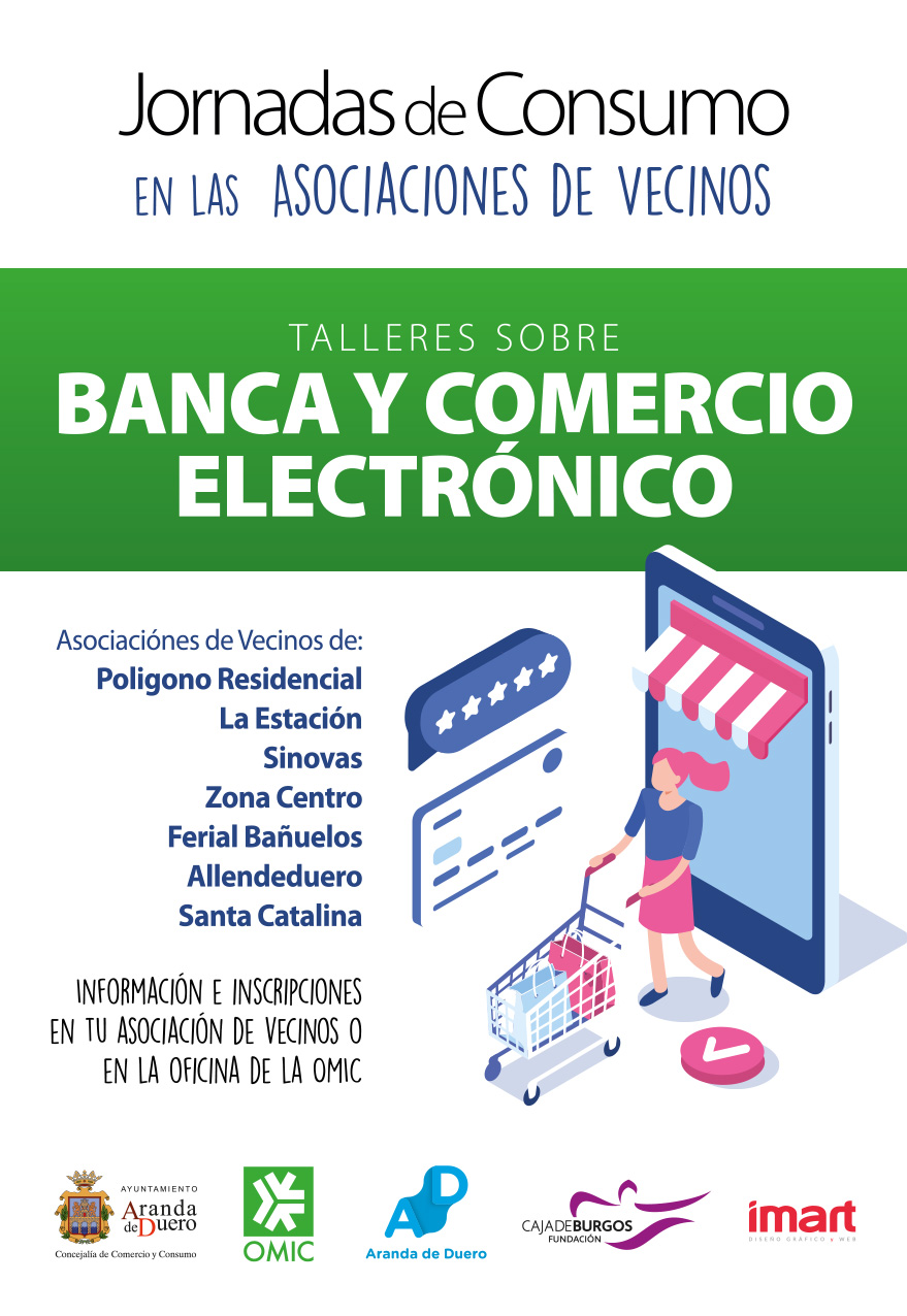 Cartel Taller de banca y comercio electrónico en Aranda de Duero