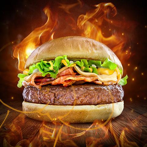Fotografía de producto - hamburguesa a la parrilla